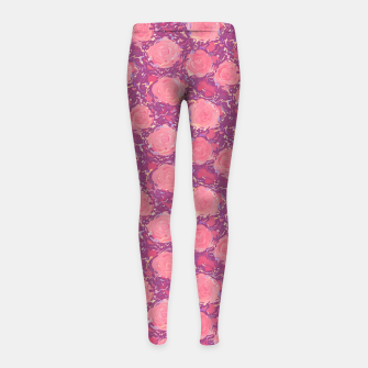 Thumbnail image of Roses in pearly purple light Girl's leggings, Live Heroes