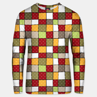 Thumbnail image of Retro Squares with polka dots vintage colors geometric shapes Unisex sweater, Live Heroes