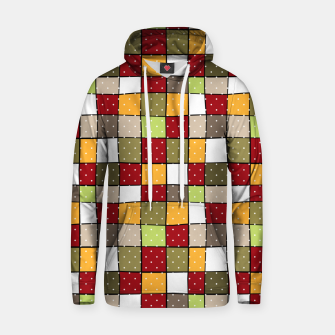 Thumbnail image of Retro Squares with polka dots vintage colors geometric shapes Hoodie, Live Heroes