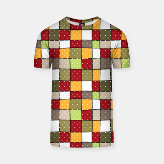 Thumbnail image of Retro Squares with polka dots vintage colors geometric shapes T-shirt, Live Heroes