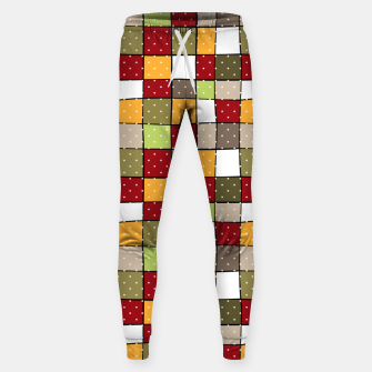 Miniaturka Retro Squares with polka dots vintage colors geometric shapes Sweatpants, Live Heroes