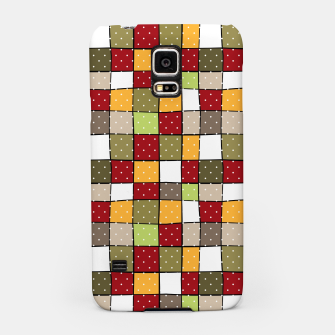 Miniaturka Retro Squares with polka dots vintage colors geometric shapes Samsung Case, Live Heroes