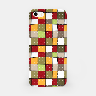 Miniaturka Retro Squares with polka dots vintage colors geometric shapes iPhone Case, Live Heroes