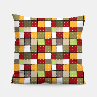 Thumbnail image of Retro Squares with polka dots vintage colors geometric shapes Pillow, Live Heroes