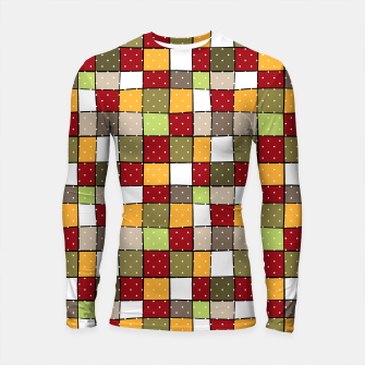 Thumbnail image of Retro Squares with polka dots vintage colors geometric shapes Longsleeve rashguard , Live Heroes