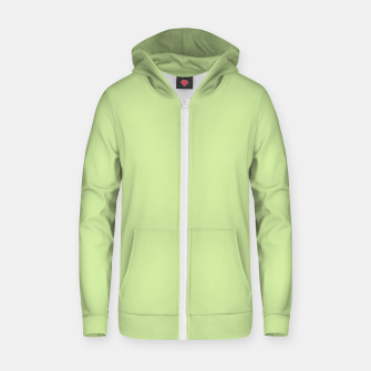 Thumbnail image of Pastel limon green summer stylish color pure soft light avocado monochrome Zip up hoodie, Live Heroes