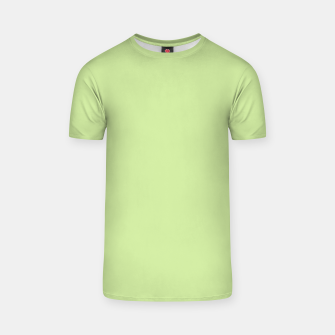 Thumbnail image of Pastel limon green summer stylish color pure soft light avocado monochrome T-shirt, Live Heroes