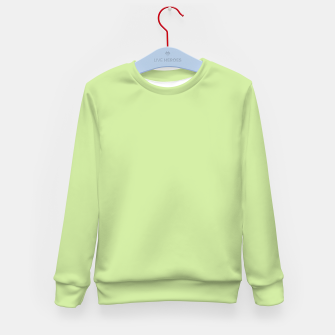 Imagen en miniatura de Pastel limon green summer stylish color pure soft light avocado monochrome Kid's sweater, Live Heroes