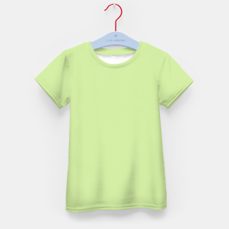 Thumbnail image of Pastel limon green summer stylish color pure soft light avocado monochrome Kid's t-shirt, Live Heroes
