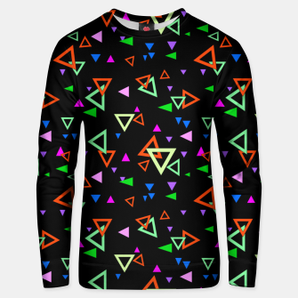 Thumbnail image of Abstract bright geometric triangles shapes black multicolor bright Unisex sweater, Live Heroes