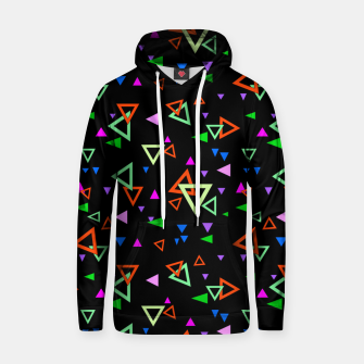 Miniatur Abstract bright geometric triangles shapes black multicolor bright Hoodie, Live Heroes