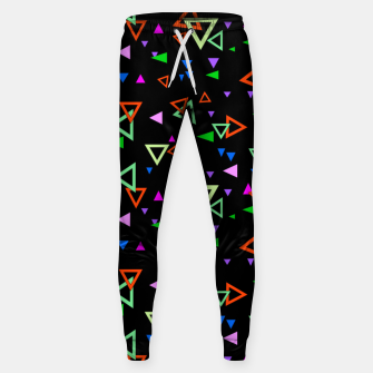 Thumbnail image of Abstract bright geometric triangles shapes black multicolor bright Sweatpants, Live Heroes
