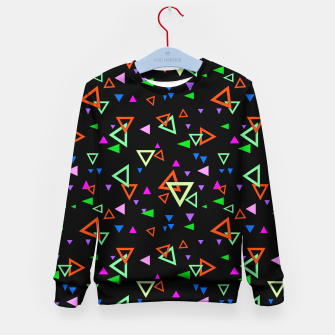 Thumbnail image of Abstract bright geometric triangles shapes black multicolor bright Kid's sweater, Live Heroes