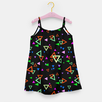 Imagen en miniatura de Abstract bright geometric triangles shapes black multicolor bright Girl's dress, Live Heroes