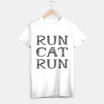Thumbnail image of RunCatRun in sketch font dark T-shirt regular, Live Heroes
