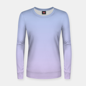 Pastel blue violet purple gradient ombre summer stylish color pure soft light lavender monochrome Women sweater thumbnail image