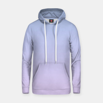 Pastel blue violet purple gradient ombre summer stylish color pure soft light lavender monochrome Hoodie thumbnail image