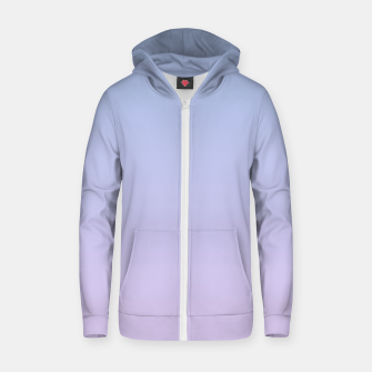 Thumbnail image of Pastel blue violet purple gradient ombre summer stylish color pure soft light lavender monochrome Zip up hoodie, Live Heroes