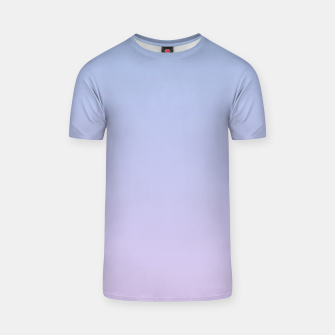 Pastel blue violet purple gradient ombre summer stylish color pure soft light lavender monochrome T-shirt thumbnail image