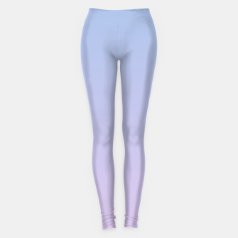 Pastel blue violet purple gradient ombre summer stylish color pure soft light lavender monochrome Leggings thumbnail image