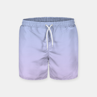 Pastel blue violet purple gradient ombre summer stylish color pure soft light lavender monochrome Swim Shorts thumbnail image