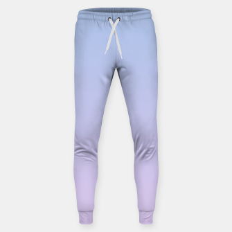 Pastel blue violet purple gradient ombre summer stylish color pure soft light lavender monochrome Sweatpants thumbnail image