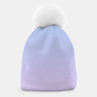 Miniatur Pastel blue violet purple gradient ombre summer stylish color pure soft light lavender monochrome Beanie, Live Heroes