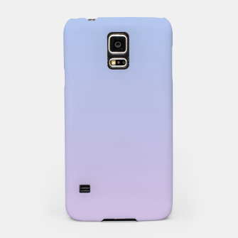 Miniatur Pastel blue violet purple gradient ombre summer stylish color pure soft light lavender monochrome Samsung Case, Live Heroes
