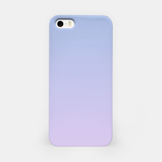 Miniatur Pastel blue violet purple gradient ombre summer stylish color pure soft light lavender monochrome iPhone Case, Live Heroes