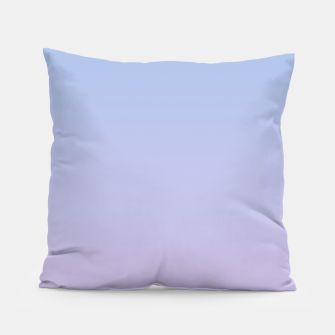 Miniatur Pastel blue violet purple gradient ombre summer stylish color pure soft light lavender monochrome Pillow, Live Heroes