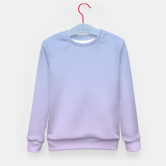 Miniatur Pastel blue violet purple gradient ombre summer stylish color pure soft light lavender monochrome Kid's sweater, Live Heroes