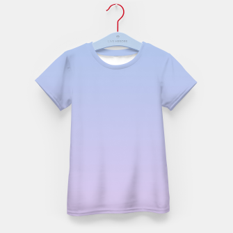 Miniatur Pastel blue violet purple gradient ombre summer stylish color pure soft light lavender monochrome Kid's t-shirt, Live Heroes