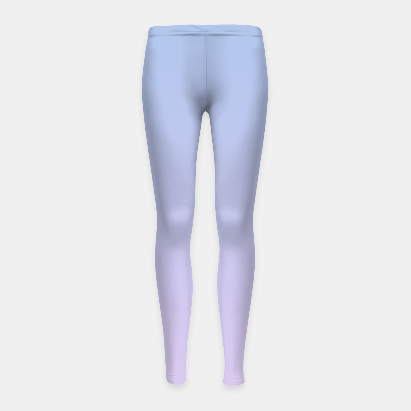 Image of Pastel blue violet purple gradient ombre summer stylish color pure soft light lavender monochrome Girl's leggings - Live Heroes