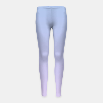 Miniatur Pastel blue violet purple gradient ombre summer stylish color pure soft light lavender monochrome Girl's leggings, Live Heroes