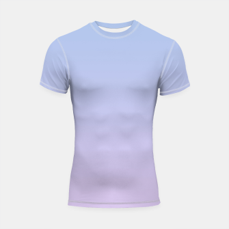 Thumbnail image of Pastel blue violet purple gradient ombre summer stylish color pure soft light lavender monochrome Shortsleeve rashguard, Live Heroes