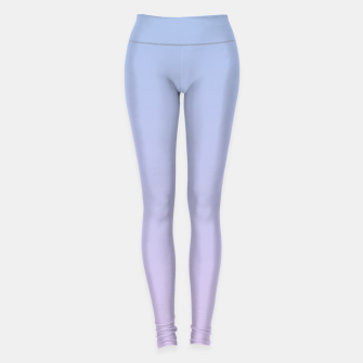 Thumbnail image of Pastel blue violet purple gradient ombre summer stylish color pure soft light lavender monochrome Leggings, Live Heroes
