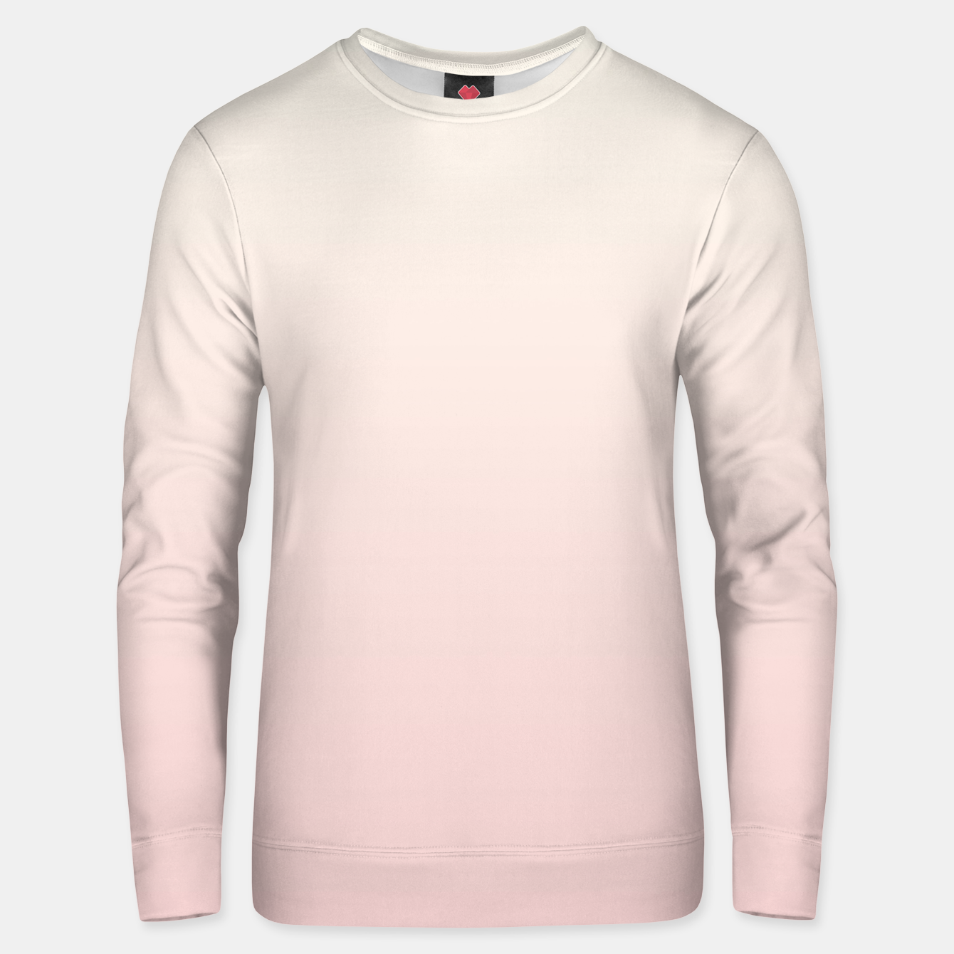 Image of Pastel pink beige duotone gradient ombre summer stylish color pure soft light blush monochrome Unisex sweater - Live Heroes