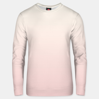 Pastel pink beige duotone gradient ombre summer stylish color pure soft light blush monochrome Unisex sweater thumbnail image