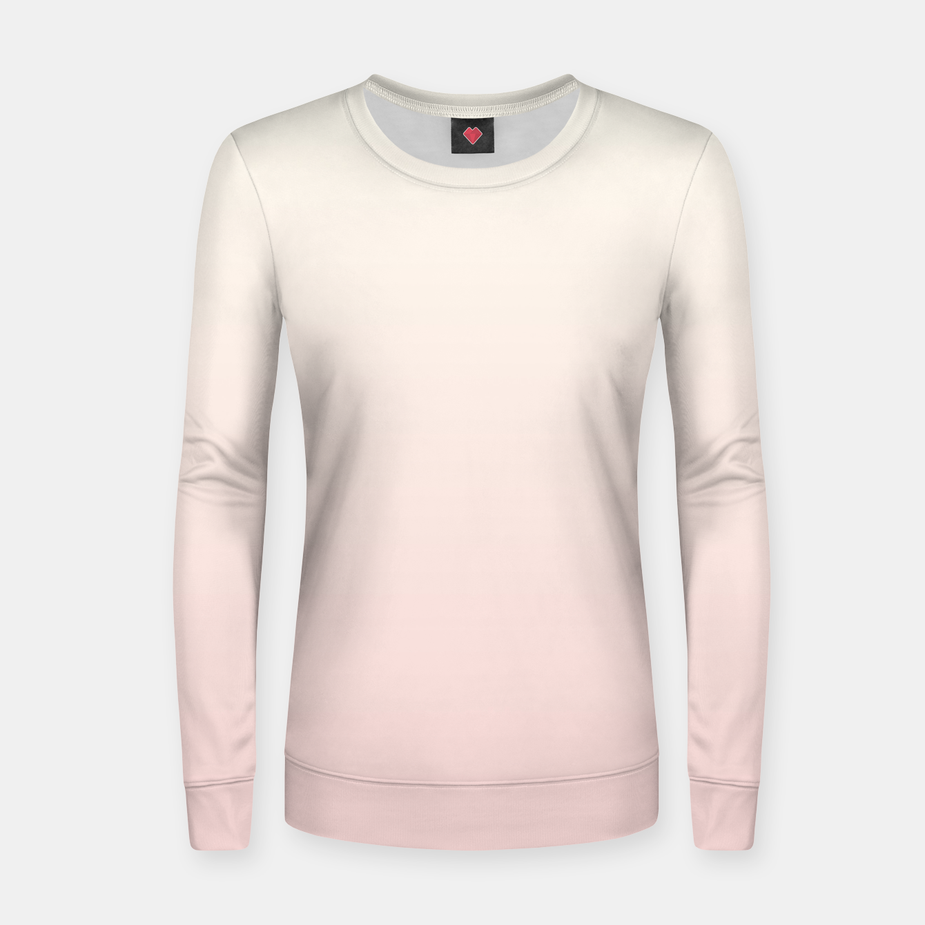Image of Pastel pink beige duotone gradient ombre summer stylish color pure soft light blush monochrome Women sweater - Live Heroes