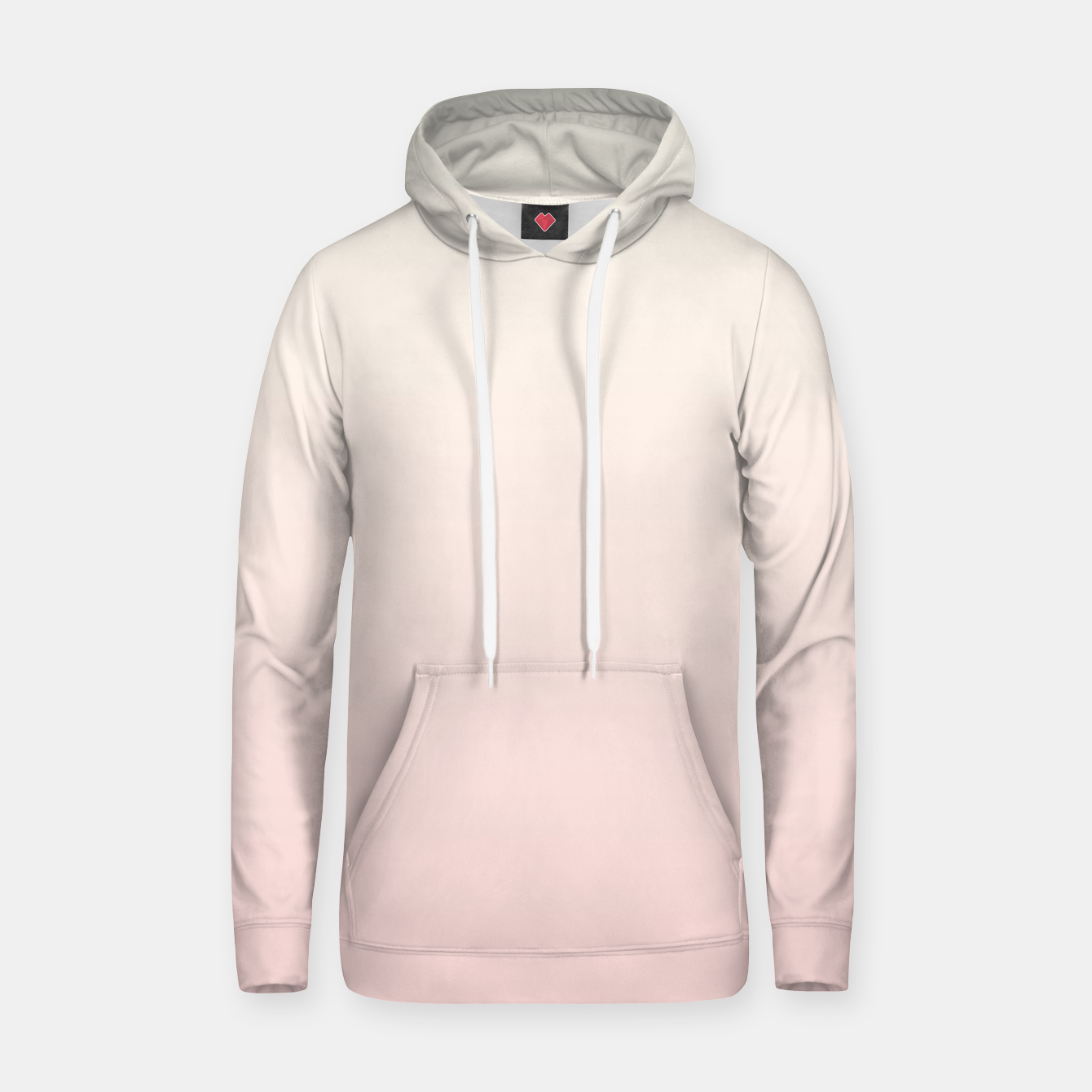 Image of Pastel pink beige duotone gradient ombre summer stylish color pure soft light blush monochrome Hoodie - Live Heroes