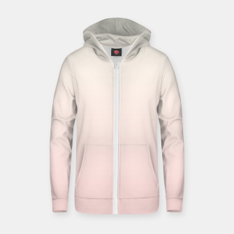 Pastel pink beige duotone gradient ombre summer stylish color pure soft light blush monochrome Zip up hoodie thumbnail image