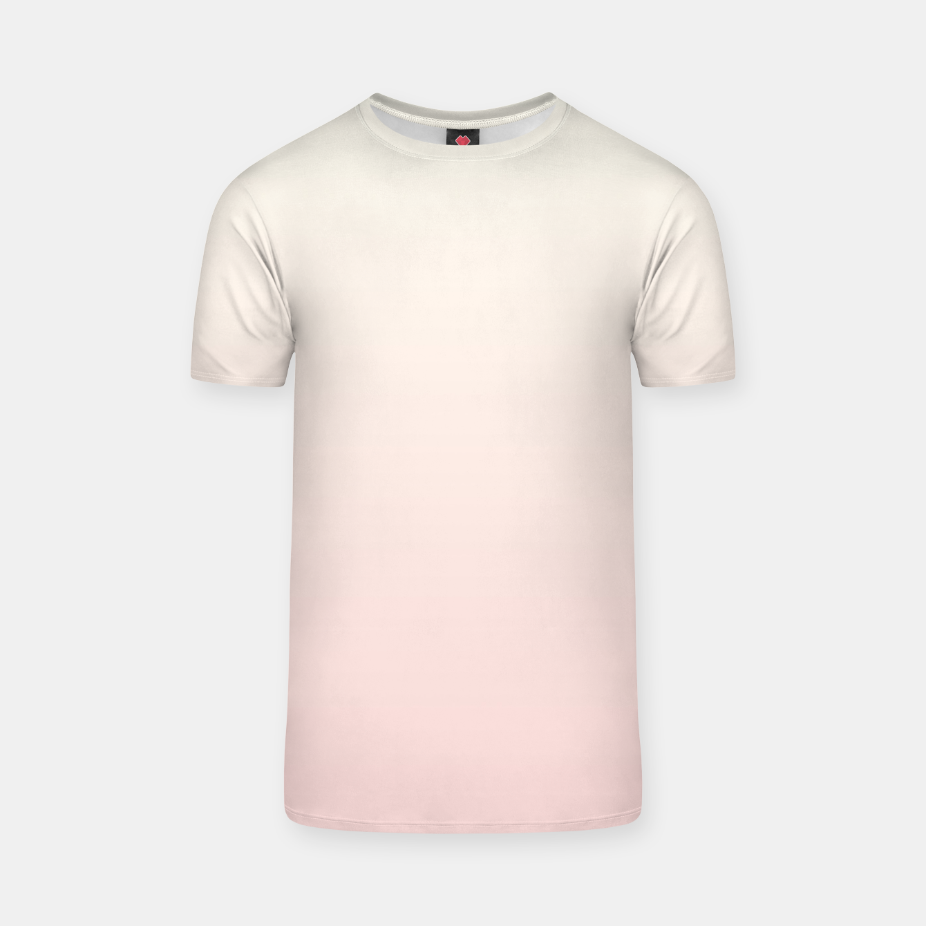 Image of Pastel pink beige duotone gradient ombre summer stylish color pure soft light blush monochrome T-shirt - Live Heroes