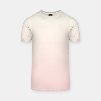 Pastel pink beige duotone gradient ombre summer stylish color pure soft light blush monochrome T-shirt thumbnail image