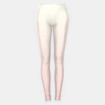 Pastel pink beige duotone gradient ombre summer stylish color pure soft light blush monochrome Leggings thumbnail image