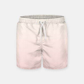 Pastel pink beige duotone gradient ombre summer stylish color pure soft light blush monochrome Swim Shorts thumbnail image