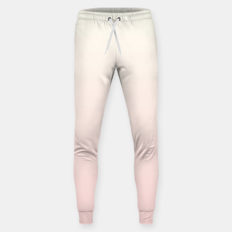 Pastel pink beige duotone gradient ombre summer stylish color pure soft light blush monochrome Sweatpants thumbnail image