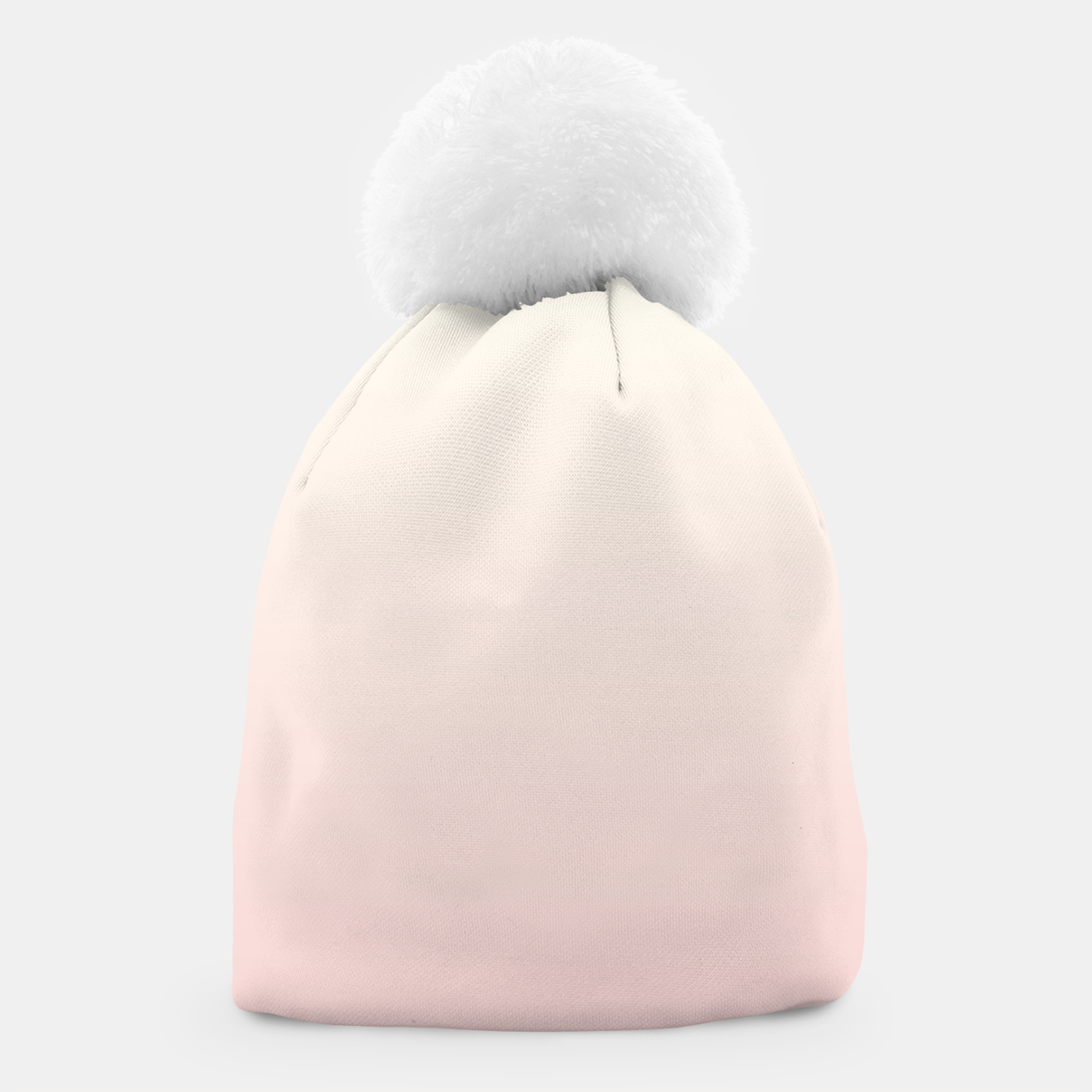 Image of Pastel pink beige duotone gradient ombre summer stylish color pure soft light blush monochrome Beanie - Live Heroes