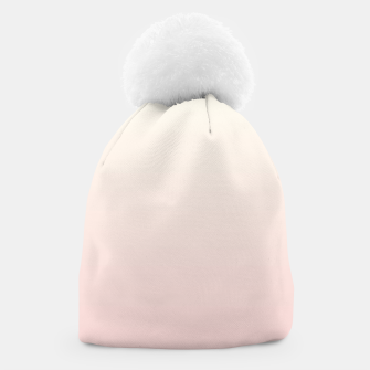 Miniatur Pastel pink beige duotone gradient ombre summer stylish color pure soft light blush monochrome Beanie, Live Heroes