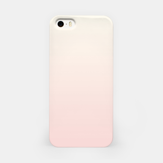 Pastel pink beige duotone gradient ombre summer stylish color pure soft light blush monochrome iPhone Case thumbnail image