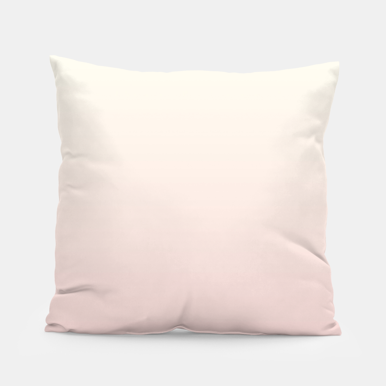 Image of Pastel pink beige duotone gradient ombre summer stylish color pure soft light blush monochrome Pillow - Live Heroes